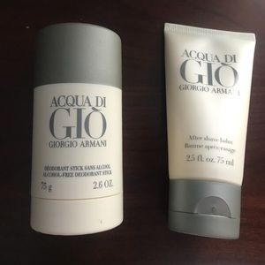 Acgua di Gio deodorant stick and after shave balm for sale